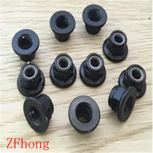 m3 m4 m5 m6 m8 steel with black flange nylon lock nut nuts(China)