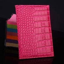 2017 New Delicate Business Card Holder Passport Cover Soft PU Leather Alligator Embossing Passport Holder Protector Wallet(China)