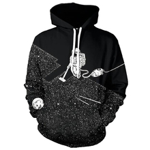 Fashion Men Women Hoodie Galaxy Outer Space Black Space Astronauts Hoody Coat Cool 3D Printed Polluver Hoodies & Sweatshirts(China)