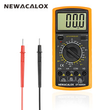 NEWACALOX Digital Multimeter Multifunctional LCD AC DC AMP Automatic Multimeter Ammeter Resistance Capacitance Meter Repair Tool(China)