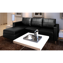 iKayaa   Modern High Quality Classical living room Sofa artificial Leather Sofa Living Room Furniture ES Stock