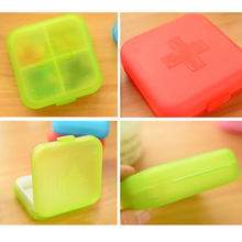 Remarkable Portable 4 Slots Health Pill Case Organizer Medicine Box Storage Case Container Travel Pill Box Color Random
