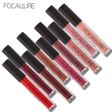 FOCALURE Brand Makeup Waterproof batom Tint Lip Gloss Red Velvet True Brown Nude Matte Lipstick Colourful Maquiagem(China)