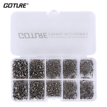 Goture 500pcs/lot 4# 6# 8# 10# 12# Strong Fishing Rolling Barrel Swivels Fishing Tackle Accessories Line to Hook Connectors(China)
