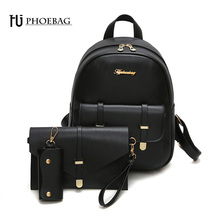 HJPHOEBAG Fashion mini women backpack high quality school bags for teenage girls PU leather black mochila feminine bags Z-469