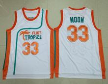 Jackie Moon #33 Flint Tropics Semi Pro Movie Vest all stitched S-3XL