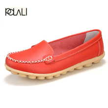 2017 New Artificial Leather Women Shoes Causal Soft Woman's Flats Female Moccasins Sapatilhas Femininos  size 35-42
