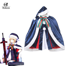 Rolecos Brand Mobile Game Fate Grand Order Cosplay Costume Santa Alter Cosplay Fashion Christmas Cloak Sets