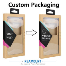 500 pcs Wholesale CUSTOM LOGO  High Class Kraft Paper Packaging For Phone Cover For iPhone 6 6 plus  With Stickers & Inner Trays