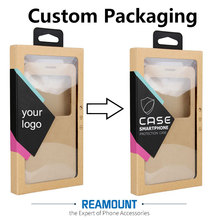 500 pcs Wholesale CUSTOM LOGO High Class Kraft Paper Packaging For Phone Cover For iPhone 6 6 plus With Stickers & Inner Trays(China)