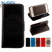 Buy IKASEFU iPhone7 5S SE 6 6S 6 7 Plus Phone Cases Sunflower Embossed Leather Wallet Cover Stand Protective Shell iPhone 7 for $3.62 in AliExpress store