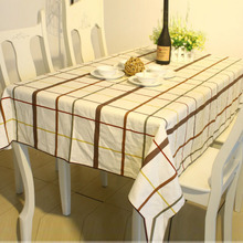 2016 European style white bid plaid 100% cotton tablecloth woven restaurant  table cover for party picnic outdoor use #ZB0017