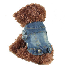 Fashion Denim Jacket Coat Small medium Large Dogs Clothes Summer Chihuahua Puppy Dog Clothing Jeans Tops Vest XS-XXL