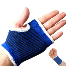 1 Pair Elastic Compression Wrist Support Guards Cheap Sports Wristband Bracer Palm Hands Protector Fitness Gym Wraps lifting(China)