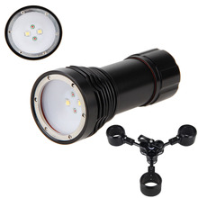 Best Diving D32VR W38VR Wide Angle 1400 Lumens LED 3-Modes Flashlight Torch White CREE XM-L2 U2 LED *2 +  Red CREE XP-E N3 LED*2
