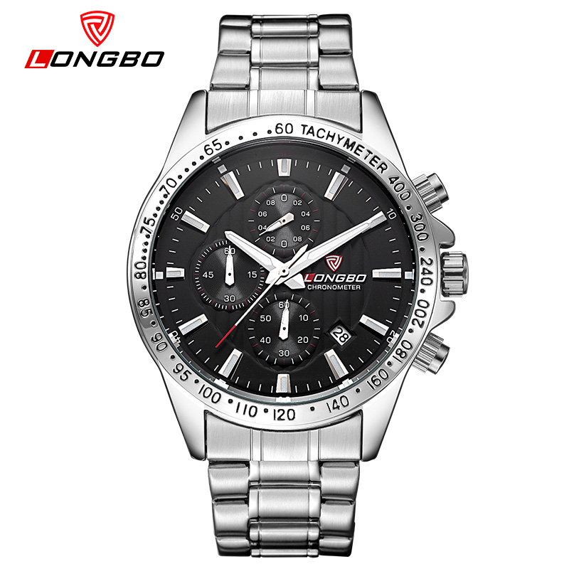relogio masculino LONGBO Mens Luxury quartz watch Top Brands Men fashion business watch Really three small dial Military Watch<br><br>Aliexpress