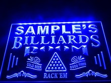 DZ011- Name Personalized Custom Billiards Pool Bar Room  LED Neon Light Sign