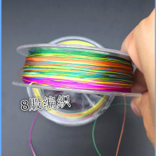 Y248 Selling high quality 8 lines to make up a metre color raft line count PE vigorously horse fishing line 100 m(China)
