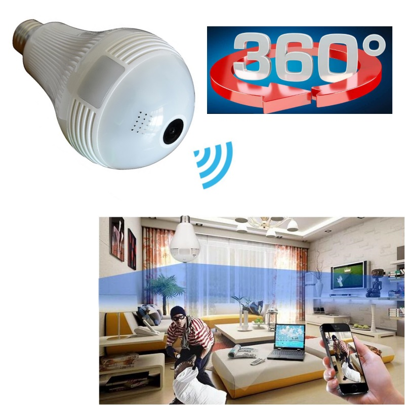 HD 960P 3D VR Camera Home Security WiFi Camera Panoramic  360 Degree Wireless IP Camera Bulb Light FishEye Smart Home CCTV <br>