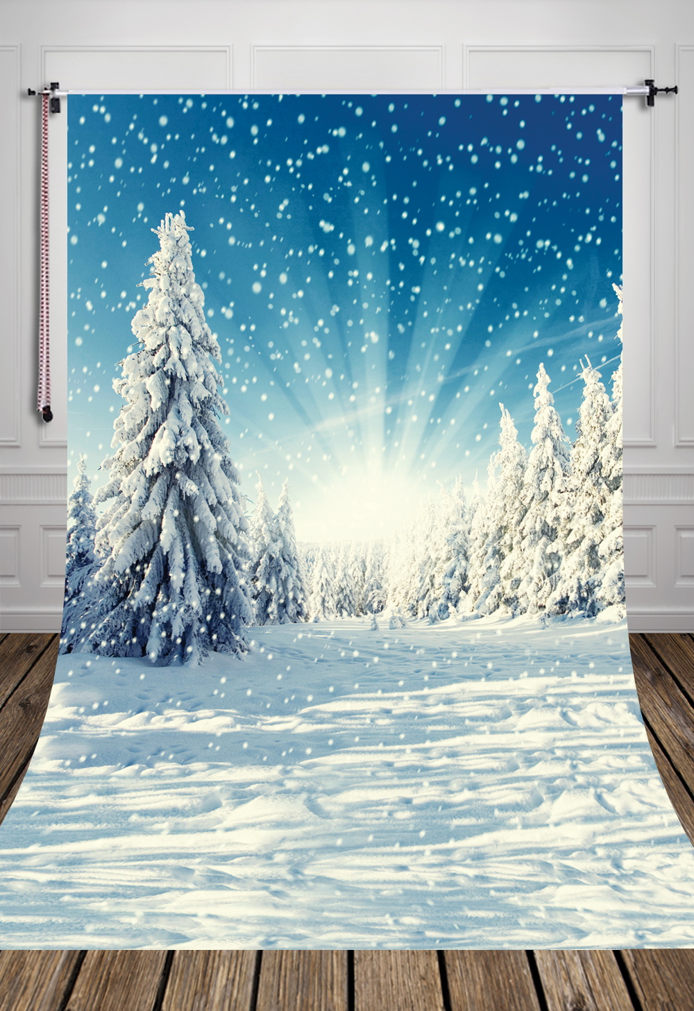 HUAYI Winter Forest landscape Christmas Photography Photo Backdrop D2396<br><br>Aliexpress
