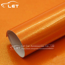 car styling orange golden sand pearl car wrap vinyl film car wrap sheet roll car sticker decal free shipping(China)