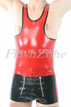 Men latex skintight clothes whole set