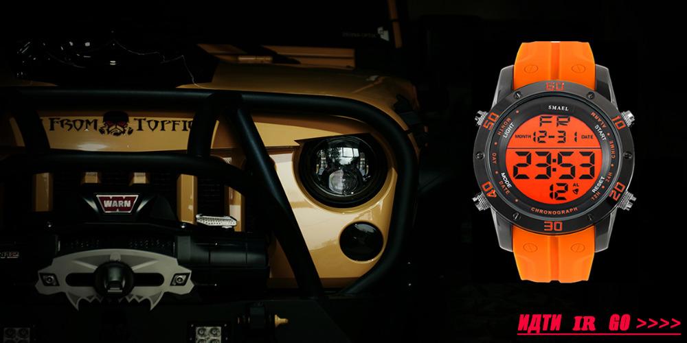 SMAELผู้ชายนาฬิกากองทัพดิจิตอลนาฬิกาสปอร์ตGสไตล์ช็อกนาฬิกาของมนุษย์1438นาฬิกาข้อมือm ontre homme LEDนาฬ... 9