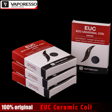 Original Vaporesso EUC Ceramic Coil 0.3/0.5/0.6/1.3 ohm SS316L Coil Head for Vaporesso Estoc / Target Pro/ Gemini Tank 5pcs/lot