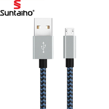 2.4A Micro USB Cable Fast ChargingSuntaiho Nylon Braid USB Cable Data Charger Cable Mobile Phone Cable for Samsung Android Phone