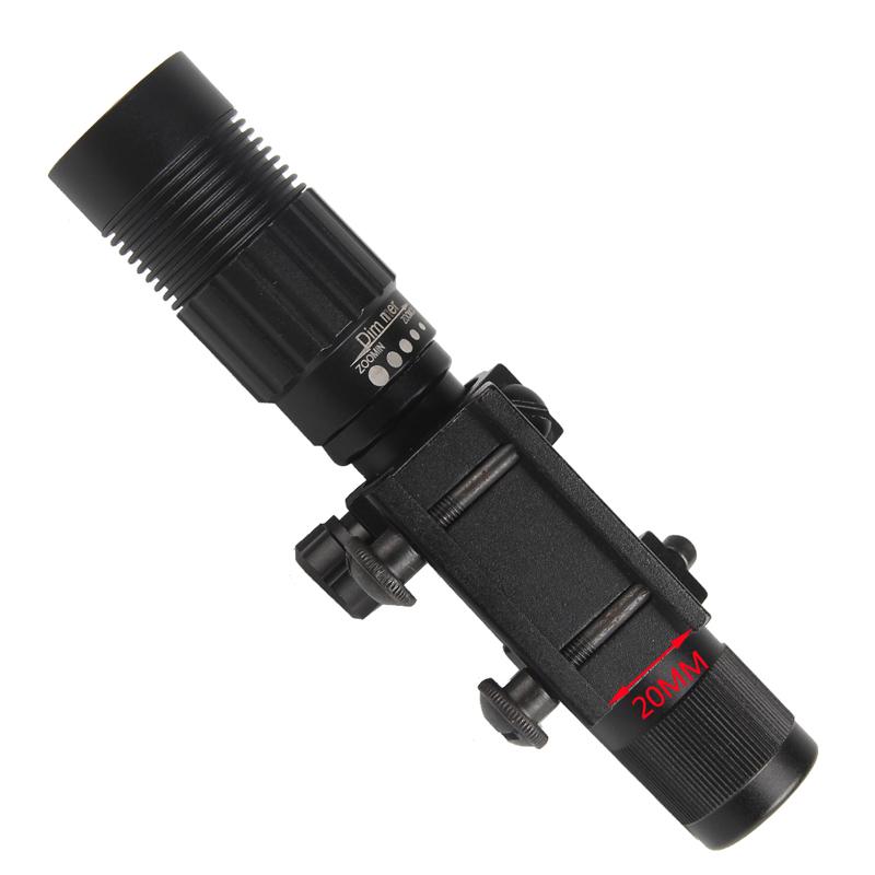 Night Vision Optics Adjustable Strong Green Laser Flashlight Illuminator Hunting Laser Sight Free Shipping RL8-0006G-07