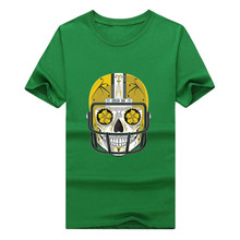 2017 Green Fashion Bay Packers sugar skull shirt mens 100% cotton T-shirt