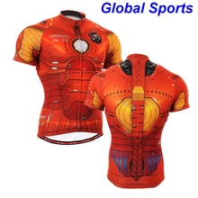 2017 Brand Team Ironman Cycling Jerseys Bike Shirts Iron Man Bicycle Wear male man spideman Short Clothing Ciclismo