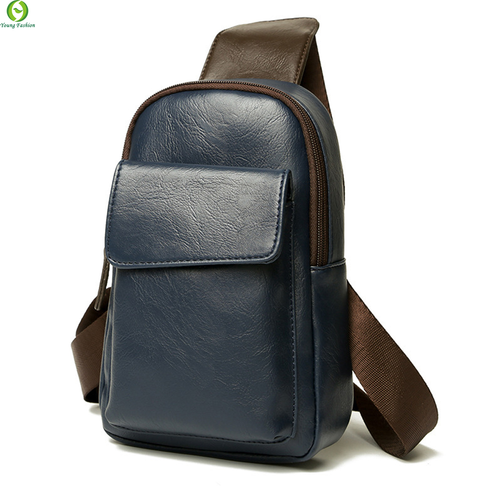 Young fashion Leather Men Messenger Bags Cross Body Shoulder Chest Bags Packs Water Shape Favorite Crossbody Brand Black New<br><br>Aliexpress