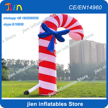 free air ship to door,13ft/20ft X-mas Christmas decoration ornaments giant inflatable cane inflatable crutch(China)