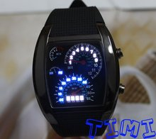 TVG Fashion Design  Blue LED Light Dot Matrix Mens WATCH freeship Diving