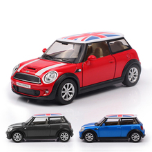 Hot Sale 1:30 MINI cooper S high simulation alloy model car with pull back for baby gift toys Free Shipping