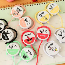 Ear-Hook cartoon bird earphone for Iphone samsung MI LG Huawei cute earbuds mobile phone headphone best kids gift(China)