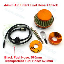 Upgrade 44mm Air Filter + Stack Adapter Vstack + Fuel Hose Line Kit For 47cc 49cc Mini ATV Dirt Pocket Bike(China)