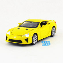 Free Shipping/1:32 Scale/Lexus LFA/Have Sound and Light/Diecast Metal Educational Pull back toy/For Children's gift/Collection