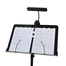 Flexible Stand Clip 9LEDs LED Desk Reading Lamp Portable Bendable Orchestra Piano LED Music Score Light AA Battery or USB