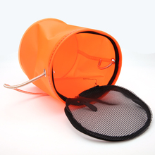 18cm Portable Foldable EVA Bucket  Shrink Fly Carp Fishing Accessories Tackle Fishing Round For Live Fish Water Storage 2 Colors