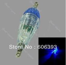 Free Shipping Free Shipping 1 Pcs LED Mini Deep Drop Underwater Fishing  Squid Bait Lure Light Blue Flashing