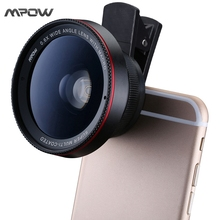MFE6 Mpow MLens V3 2 in 1 0.6X Wide Angle Lens with Clip 37mm Thread 10X Macro High Definition Mobile Phone Lens for IOS Android