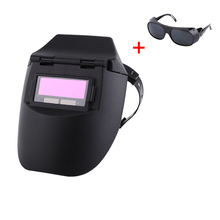 Solar Welding Helmet Cap with Welding Sunglass Foldable Auto-Darkening Welding Mask Adjustable Plastic Helmet Assortment