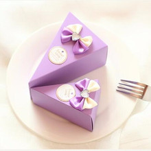 30Pcs/lot Wholesale Pink Color  Cake Shape Candy Box /Romantic Wedding Decoration/ Box for Party  Invitations and Favors