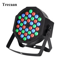 Trecaan DJ Lights 36 LEDs RGB Color Mixing Wash Can Par Light for Disco Christmas Wedding Party Show Live Concert Stage Light(China)