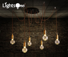 Simple Creative Living Room Bedroom pendant lamp Restaurant Tiny Scattered Flower Sculpture Glass pendant lights(China)