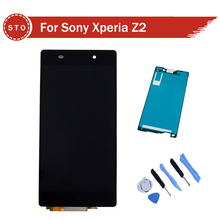 For Sony Xperia Z2 L50W D6502 D6503 LCD Display With Touch Screen Digitizer Aassembly + adhesive + Tools free shipping