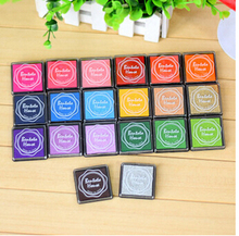 20pcs/lot 20 colors DIY Scrapbooking Vintage Crafts Ink pad Colorful Inkpad Stamps Sealing Decoration Stamp