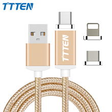 TTTEN Magnetic Cable USB C Plug For USB Type C Micro USB 30 pins Cable Magnetic Charger USB Sync Charging Cable with Adapter(China)